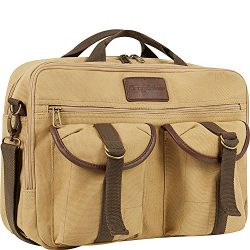 Tommy Bahama Briefcase Messenger Travel Bag, Tan