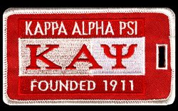 Kappa Alpha Psi Fraternity Founding Year Embroidery Id/luggage Tag