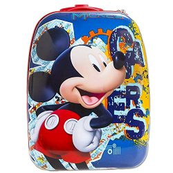 Disney Mickey Mouse Rolling Luggage for Kids – 18 Inch, Hardside Suitcase with Wheels (Mic ...