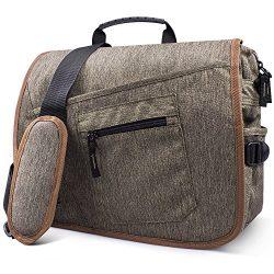 Qipi Messenger Bag – Pocket Rich Satchel Shoulder Bag for Men & Women – with 15. ...