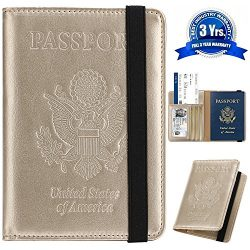 Passport Holder Cover Wallet DESERTI BRANDS RFID Blocking Leather Card Case Travel Document Orga ...
