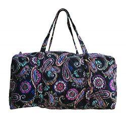 Vera Bradley Large Duffel Bag (Bandana Swirl with Solid-Color Interior Lining)