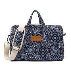 Canvaslife Blue Vintage Patten Waterproof Laptop Shoulder Messenger Bag Case Sleeve for 12 Inch  ...