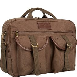 Tommy Bahama Briefcase Messenger Travel Bag, Olive