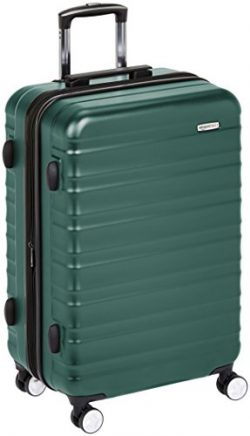 AmazonBasics Premium Hardside Spinner Luggage with Built-In TSA Lock – 28-Inch, Green