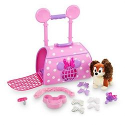 Disney Store Minnie Mouse and Fifi Pet Carrier Play Set