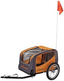 Schwinn Rascal Pet Tow Behind Bicycle Trailer Orange