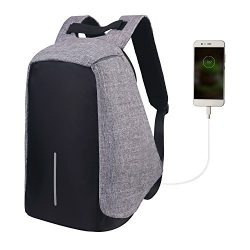 Water Resistant Laptop Backpack,Lightweight computer backpack with USB Charging Port large capac ...