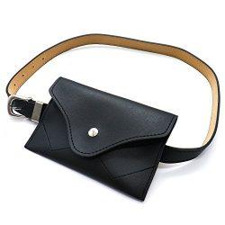 TOPMO Women Fashion Leather Belt Purse Women Waist Belt Mini Waist Bag Pouch Fanny Packs Cell Ph ...