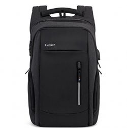 DDPP Laptop Backpack With USB Charging Port And Lock And Headphones Room, Waterproof School Back ...
