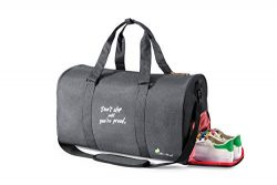 All Soul Great Inspirational Sports Duffel Gym Bag Weekender with Shoe Compartment:Achieve more  ...