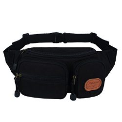 Ryaco [Canvas] R906 Waist Pack, Outdoor Sports Waist Bag, Bum bag, Sport Running belt, Exercise  ...