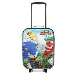 Sega Sonic Blue Travel Pilot Case Luggage for Boys
