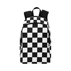 VunKo Black and White Checkered Plaid Casual Backpack for Adults Teenager School Bag Backpack Tr ...