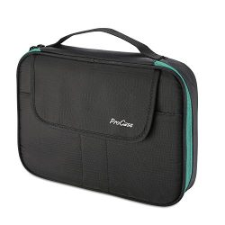ProCase Universal Electronics Accessories Organizer Bag, Double Layer Travel Gadgets Cable Carry ...