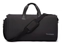 Thinksea Foldable Garment Bag with Weekender Duffle Bag Carry on for Men Women – 2 in 1 Su ...