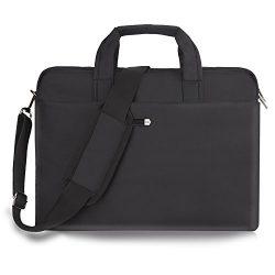 15.6 Inch Laptop Bag Laptop Messenger Bag Multi-functional Laptop Case Water-Resisatant Nylon Bu ...