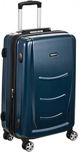 AmazonBasics Hardshell Spinner Luggage – 28-Inch, Navy Blue