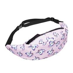 Morecome Fashion Sports Hiking Running Belt Waist Bag Pouch Zip Fanny Pack (Pink1)