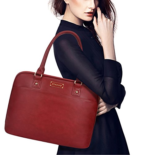 Laptop Tote Bag,15.6 inch Laptop Bag Women Work Business,Fit Notebook/MacBook/Tablet[L0009/Winered]