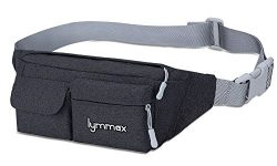 Lymmax Fanny Pack 4 Pockets Running Belt Adjustable Water Resistant Waist Bag Pack for Men Women ...