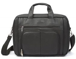 Sweetbriar Classic Laptop Briefcase – Vegan Leather Bag Designed to Protect Laptops up to  ...