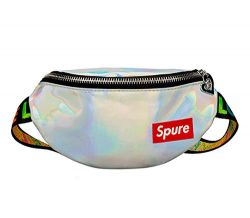 Kids Holographic Fanny Pack Sports Hiking Running Purse Waist Pack Belt Bum Bag