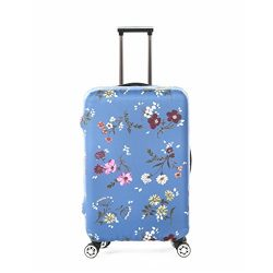 Fvstar Washable Luggage Cover Protector Spandex Floral Suitcase Cover for Travel (L (25-28 inch  ...