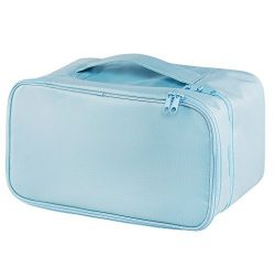Travel Underwear Organizer Bag, JJ POWER Lightweight Double Layer Large Capacity Cosmetic Bag- M ...