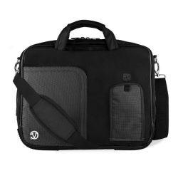 Black Briefcase Crossbody Shoulder Travel/Business/College Bag for 15.6″ Dell Laptops
