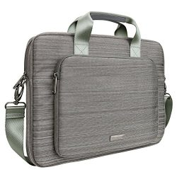 Evecase Laptop Messenger Bag, 15.6 Inch Suit Fabric Multi-functional Briefcase with Shoulder Han ...