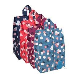 DOKEHOM DKA3031G1 Portable Nylon Travel Shoe Storage Organizer Bag (8 Colors) with Zipper Closur ...