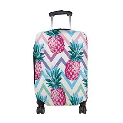 Cooper girl Pineapple Gometry Travel Luggage Cover Suitcase Protector Fits 23-26 Inch