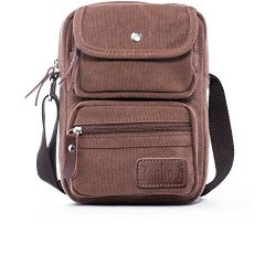 Small Messenger Bag Vintage Canvas Travel Shoulder Bag Casual School Sling Bag Crossbody Bag Bus ...