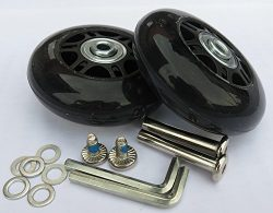 E&L 64 X 18(mm), 1 Set of Luggage Suitcase Replacement Wheels with ABEC 608zz Bearings,Packa ...