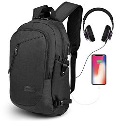 ONSON Anti Theft Laptop Backpack, Business Water Resistant Backpack Travel Bag with USB Charging ...