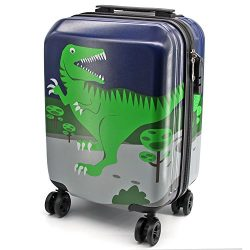 Lttxin kids' suitcase 16 inch Polycarbonate Carry On Luggage Lovely Children travel (upgra ...