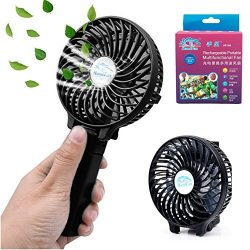 Mini Fan Battery Operated, Kingcenton Handheld Portable Foldable 4 Inch Fan with Clip for Stroll ...