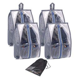 Travel Shoe Bags Waterproof Organizer Storage Tote Pouch with Zipper Closure For Men & Women ...