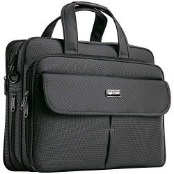 EYBF Laptop Bag 15.6 Inch, Expandable Travel Business Briefcase for Men & Women, Water Resis ...