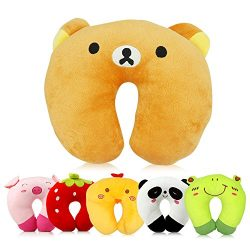 Travel Pillow for Kids Toddlers – Soft Neck Head Chin Support Pillow, Cute Animal, Comfort ...