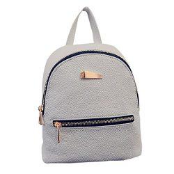 Womens Backpack School Backpack Shoulder Bag Fashion Handbag Travel Bag Messenger Bag Faionny (Gray)