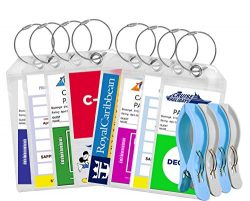 Cruise Luggage Tags Tags For Traveling – Durable PVC e-Tag Holders – Bounce Beach To ...