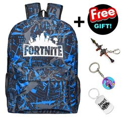 Fortnite Backpack for Kids Teens Youth Boys, Luminous Battle Royale Bag