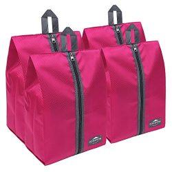 DOKEHOM DKA3030DPG1 Portable Nylon Travel Shoe Storage Organizer Bag (8 Colors) with Zipper Clos ...