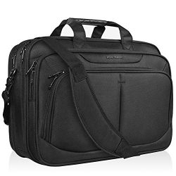 KROSER 17.1″ Laptop Bag Fits Up To 17 Inch Laptop Briefcase Water-Repellent Expandable Com ...