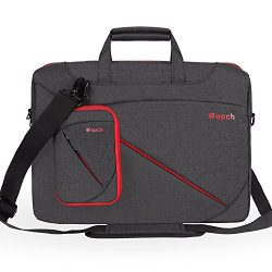 Ropch 15 15.6 Inch Laptop Bag, Waterproof Shoulder Messenger Bag Briefcase Notebook Sleeve Case  ...