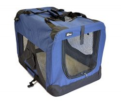 topPets Portable Soft Pet Carrier – Medium: 24″x16″x16″ – Dark Blue