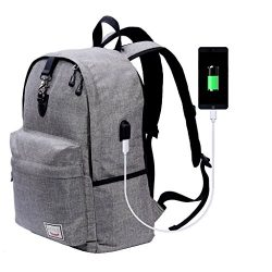 Laptop Backpack-Beyle Anti-theft Water Resistant Travel laptop backpack with USB Charging Port S ...