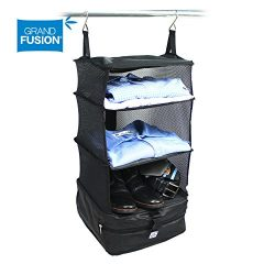 Stow-N-Go Portable Luggage System Suitcase Organizer – Small, Packable Hanging Travel Shel ...